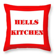 Hells Kitchen Red Throw Pillow