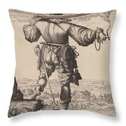 Helmeted Musketeer Throw Pillow