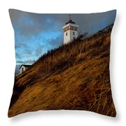 Helnaes Lighthouse Throw Pillow