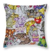 Helping Elephants Throw Pillow