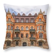 Helsingborg Building Facade Throw Pillow