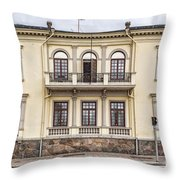 Helsingborg Old Building Facade Throw Pillow
