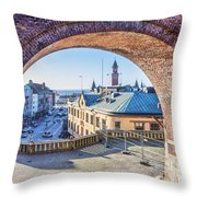 Helsingborg Through The Archway Throw Pillow