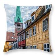 Helsingor Old Street Throw Pillow