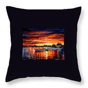 Helsinki - Sailboats At Yacht Club Throw Pillow