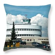 Helsinki - Malmi Airport Building Throw Pillow