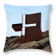 Helsinki Rock Church Cross Throw Pillow