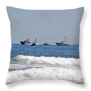 Helter Skelter At Sea Throw Pillow