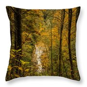 Helton Falls Through The Leaves Throw Pillow