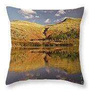 Helvellyn Mountain Reflections Throw Pillow