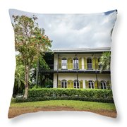 Hemingway House, Key West, Florida Throw Pillow