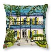 Hemingway's Home Key West Throw Pillow
