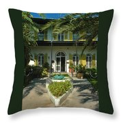 Hemingways House Key West Throw Pillow