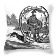 Hemmings Unicycle, 1869 Throw Pillow by Granger