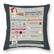 Hemorrhoids Get The Facts Throw Pillow