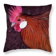 Hen Chicken, Digital Paint Throw Pillow