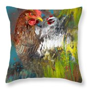 Hen Love Throw Pillow