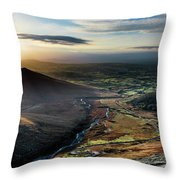 Hen Mountain From Spelga Throw Pillow
