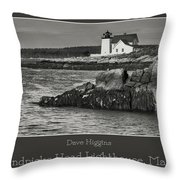 Hendricks Head Lighthouse, Maine Throw Pillow