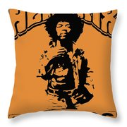 Hendrix 1967 Throw Pillow