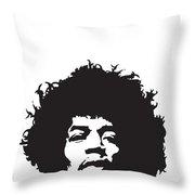 Hendrix No.01 Throw Pillow by Caio Caldas