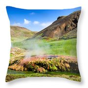 Hengill Geothermal Area Iceland Throw Pillow