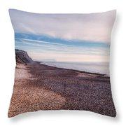 Hengistbury Head And Beach Throw Pillow