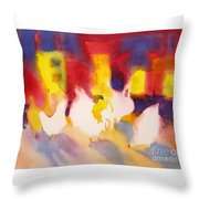 Henhouse Serenade Throw Pillow