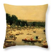 Henley Regatta Throw Pillow