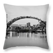 Henley Street Bridge Renovation 3 Throw Pillow