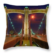 Hennepin Avenue Bridge Minneapolis Throw Pillow