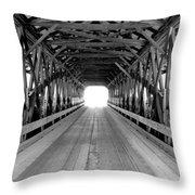 Henniker Covered Bridge Throw Pillow