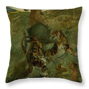 Henri From Toulouse-lautrec 1864 - 1901 Allegory, The Life Spring Throw Pillow