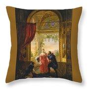 Henri Iv And His Mistress Throw Pillow
