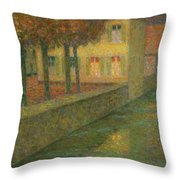 Henri Le Sidaner 1862 - 1939 Home Channel Throw Pillow