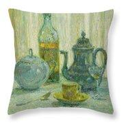 Henri Le Sidaner 1862 - 1939 Still Life Throw Pillow