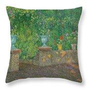 Henri Le Sidaner 1862 - 1939 The Pots Faience Throw Pillow