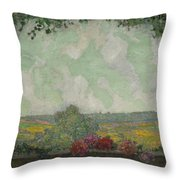 Henri Le Sidaner 1862 - 1939 View From The Terrace Throw Pillow