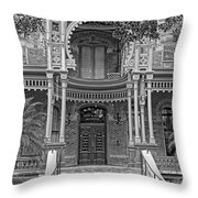 Henry B. Plant Museum Entry Bw Throw Pillow