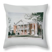 Henry County Courthouse Throw Pillow