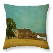 Henry House At Manassas Battlefield Park Throw Pillow