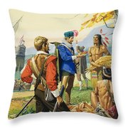 Henry Hudson Throw Pillow