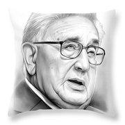 Henry Kissinger Throw Pillow