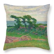 Henry Moret 1856 - 1913 The Plough Throw Pillow