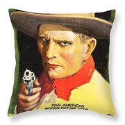 Henry Starr In A Debtor To The Law 1919 Throw Pillow