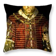 King Henry Viii Throw Pillow
