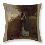 hepherdess Leaning on her  Throw Pillow