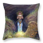 In The Haunted Depths Throw Pillow