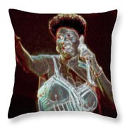 Her Majesty Throw Pillow by Kenneth Armand Johnson