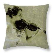 Her Music Throw Pillow
